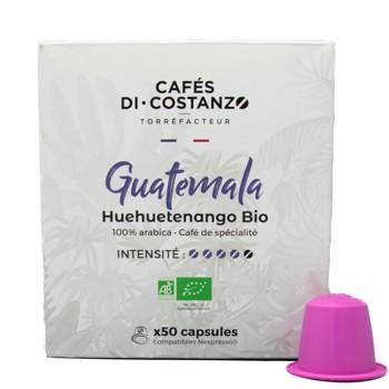 Bio Guatemala Huehuetenango - Compatibles Nespresso (x50) by Cafés Di-Costanzo
