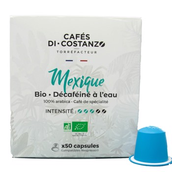 Bio Mexique Décaféiné - Compatibles Nespresso (x50) by Cafés Di-Costanzo