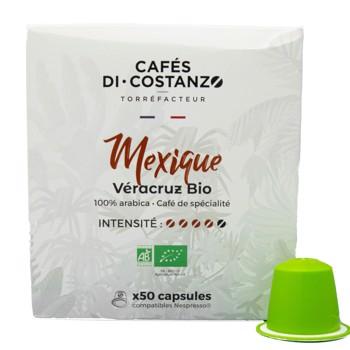 Bio Mexique Véracruz - Compatibles Nespresso (x50) by Cafés Di-Costanzo