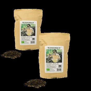 Thé vert Ceylan Sencha pur premium - Pack 2 × Pochette 250 g
