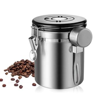 Boîte conservatrice en acier inoxydable pour thé & café - 450 g