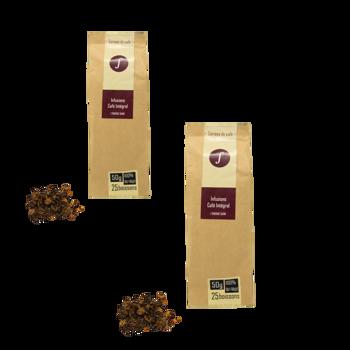 Café Intégral : Infusion de café non-torréfié - Pack 2 × Pochette 50 g