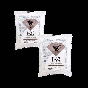 Cafec - filtre Dark Roast 1 tasse - 100 pièces - Pack 2 ×
