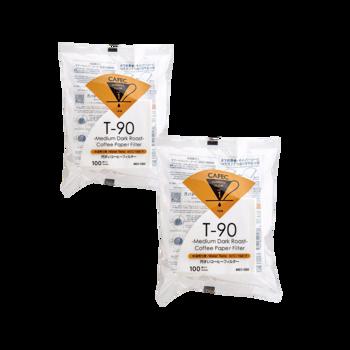 Cafec - filtre Medium Roast 1 tasse - 100 pièces - Pack 2 ×