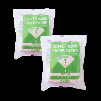 Cafec - filtre traditionnel 1 tasse - 100 pièces - Pack 2 ×