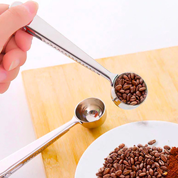 Cucchiaio per dosare il caffè con chiusura a clip - 1 cucchiaio