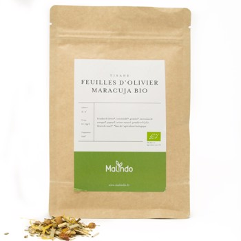Feuilles d'olivier maracuja Bio by Malindo