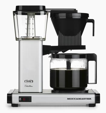 Macchina del caffè elettrica a filtro Moccamaster - 1,25 l - HBG Argento Opaco