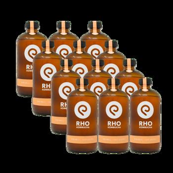 Ibisco / Pepe rosa Bio Kombucha 12x bottiglie 480ml by RHO KOMBUCHA