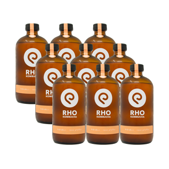 Ibisco / Pepe rosa Bio Kombucha 9x bottiglie 480ml by RHO KOMBUCHA