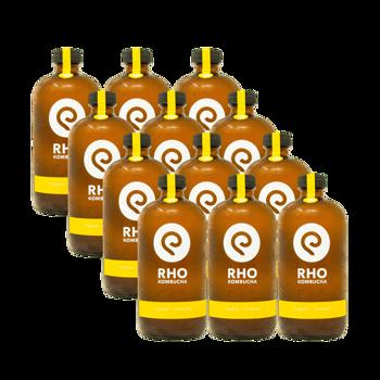 Zenzero / Lime Bio Kombucha 12x bottiglie 480ml by RHO KOMBUCHA