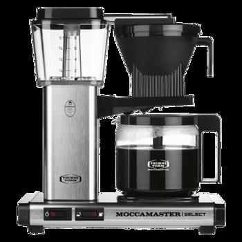 Macchina del caffè a filtro elettrica Moccamaster - 1,25 l - KBG Alluminio spazzolato