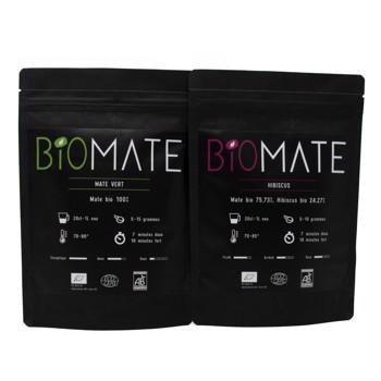 Duo Découvert: Maté Vert- Hibiscus by Biomaté