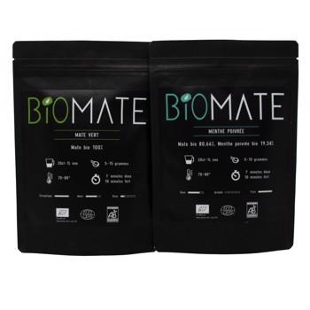 Duo Découvert: Maté Vert- Menthe poivrée by Biomaté