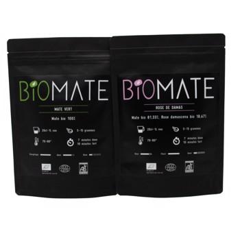 Duo Découvert: Maté Vert- Rose De Damas by Biomaté