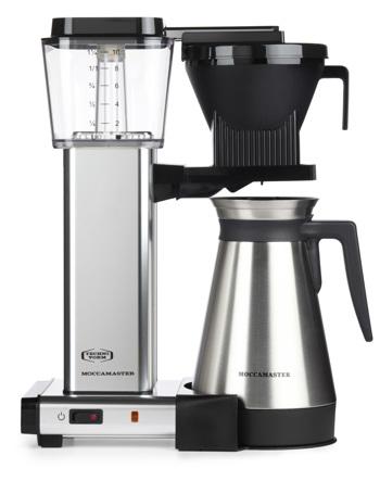Cafetière à filtre électrique avec thermos Moccamaster - 1 l - KBGT Alu Poli