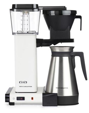 Cafetière à filtre électrique Moccamaster avec thermos - 1,25 l - KBGT Blanc