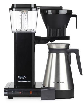 Macchina del caffè a filtro elettrica Moccamaster con thermos - 1,25 l - KBGT Nera