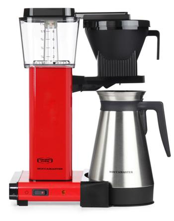 Cafetière à filtre électrique Moccamaster avec thermos - 1,25 l - KBGT Rouge
