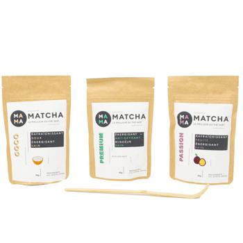 Confezione di tè Matcha: cocco, passion e classico by Mama Matcha