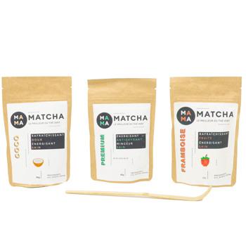 Confezione di tè Matcha: lampone, cocco e classico by Mama Matcha