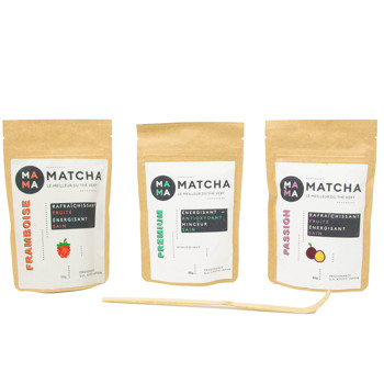 Confezione di tè Matcha: lampone, passion e classico by Mama Matcha