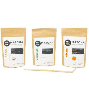 Confezione di tè Matcha: pesca, cocco e classico by Mama Matcha