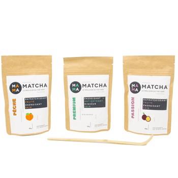 Confezione di tè Matcha: pesca, passion e classico by Mama Matcha