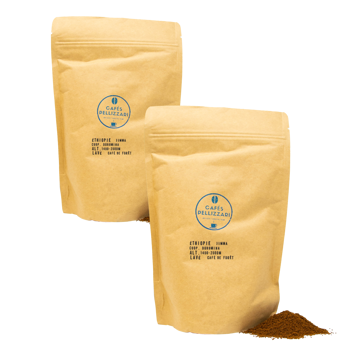 Éthiopie, Jimma - Pack 2 × Moulu French press Pochette 250 g