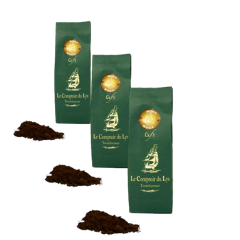 Moka Sidamo Ethiopie - Pack 3 × Moulu Espresso Pochette 250 g