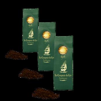 Moka Sidamo Ethiopie - Pack 3 × Moulu Filtre Pochette 250 g