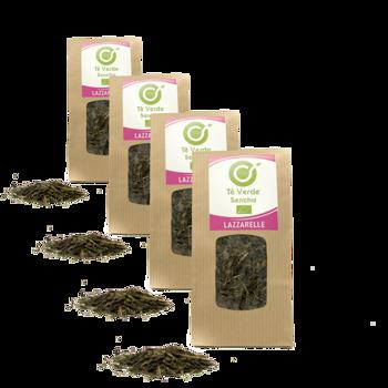 Tè verde Bio Sencha - Pack 4 × Bustina 100 g