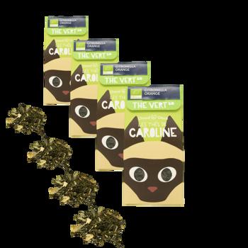 Citronella Arancio Bio - Pack 4 × Scatola di cartone 50 g