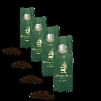 Guatemala - Pack 4 × Moulu Espresso Pochette 250 g