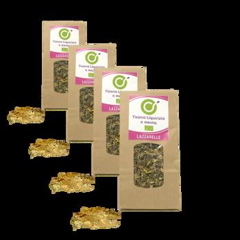 Tisana Bio liquirizia e menta - Pack 4 × Bustina 100 g