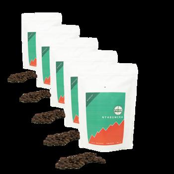 Café de spécialité du Rwanda Nyabumera - Pack 5 × Grains Pochette 250 g