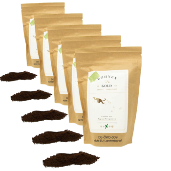 Papouasie Nouvelle Guinée Sigri AA - Pack 5 × Moulu French press Pochette 250 g