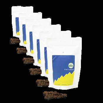Café de Specialité du Rwanda Kayumbu - Pack 6 × Grains Pochette 250 g