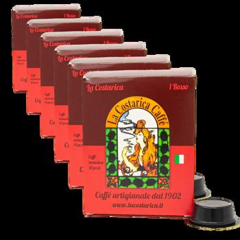 Miscela Italiano Rosso - Per macchine a capsule Lavazza A Modo Mio (x10) by La Costarica Caffè