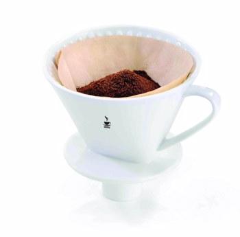 Porte-filtre à café SANDRO - porcelaine (taille 4)