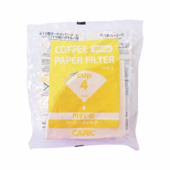 Cafec - filtre traditionnel 4 tasses - 100 pièces
