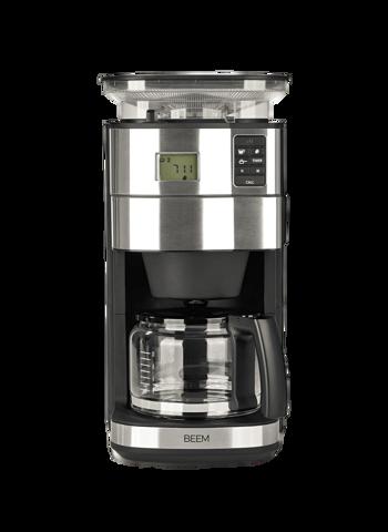 Machine à café filtre avec moulin BEEM - 1,25 l - Fresh Aroma Perfect II - Glas -
