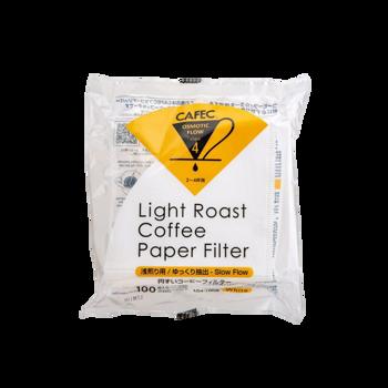 Cafec - filtre Light Roast 4 tasses - 100 pièces -