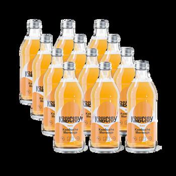 Raw Maracuja Bio-Kombucha 12x bouteilles 330ml - Coffret découverte 3,96 kg