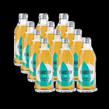 Raw Original Bio-Kombucha 12x bouteilles 330ml - Coffret découverte 3,96 kg
