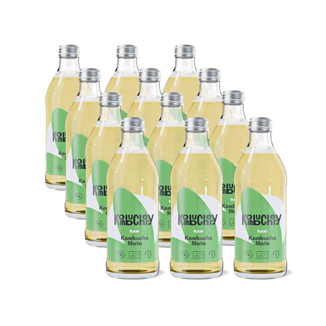 Raw Mate Bio-Kombucha 12x bouteilles 330ml by Kombuchery
